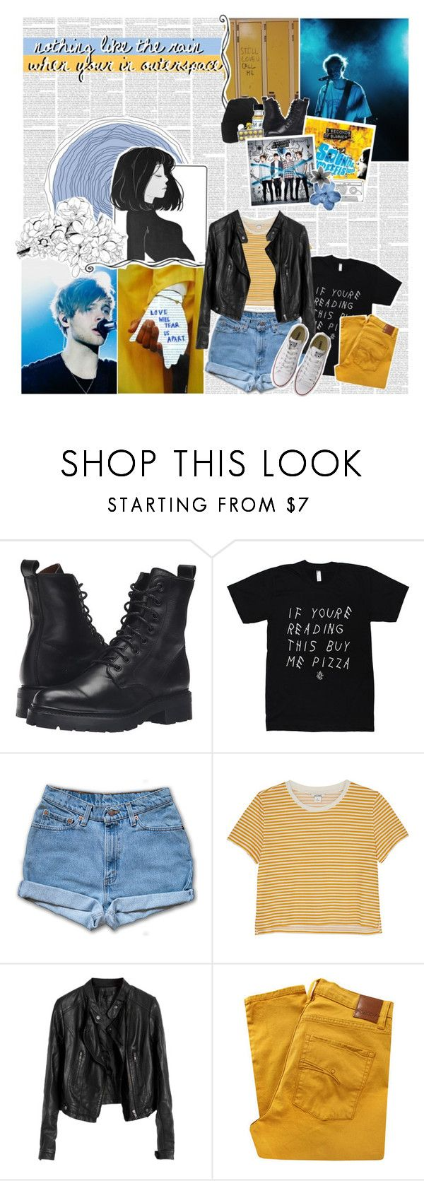 """""""&&. ✦´ love me like you did, love me like you did, i'll give you anything."""" by waywrites ❤ liked on Polyvore featuring Love Quotes Scarves, Frye, Monki, Nobody Denim, Converse and annabanana4kcontest"""
