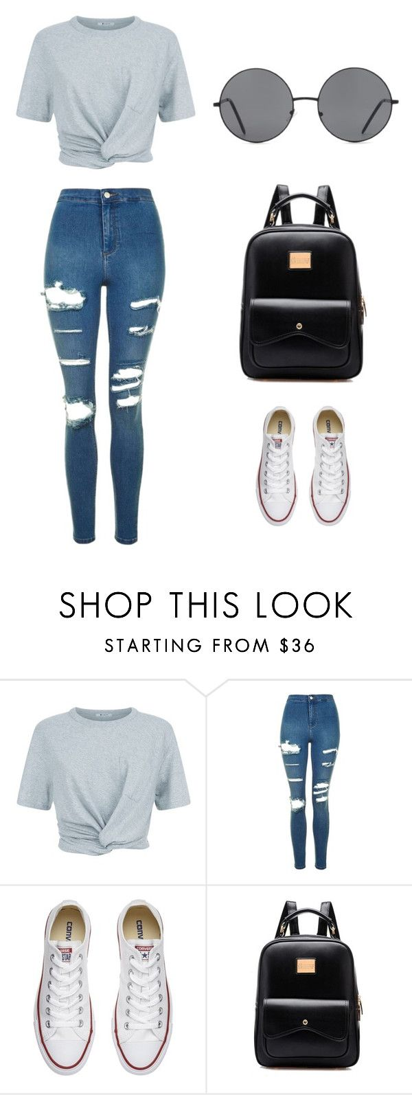 """Untitled #211"" by karenrodriguez-iv on Polyvore featuring T By Alexander Wang, Topshop, Converse and Forever 21"