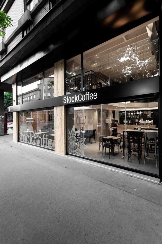 Arhitektura Budjevac, un studio de design, vient de terminer la décoration intérieure de la chaine Stock Coffee située en Serbie.