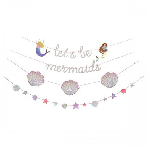 Let's Be Mermaids Garland By Meri Meri