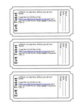 exit ticket exit slip template editable pdf form exit. Black Bedroom Furniture Sets. Home Design Ideas