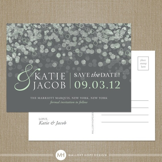 Cute and simple save the date idea for a winter wedding.