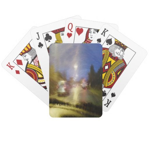 driving in a car playing cards