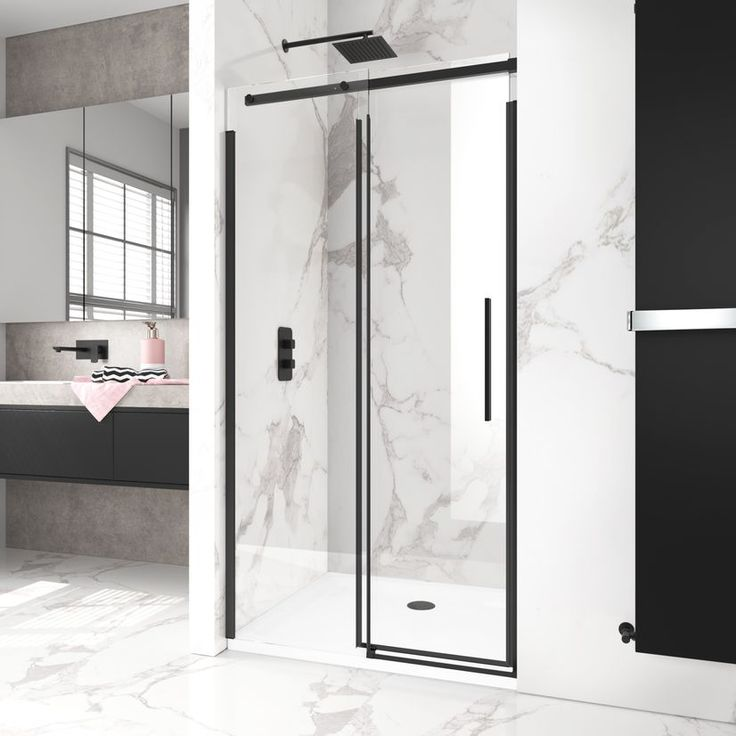Pin By Kico F Uribe On Mamparas Correderas In 2020 Frameless Sliding Shower Doors Sliding Shower Door Shower Doors