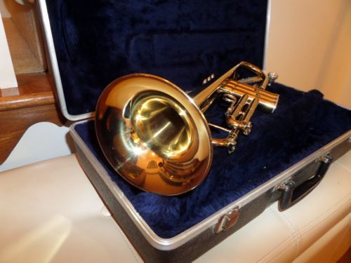 C.G. CONN TRUMPET, CASE AND MOUTHPIECE - http://musical-instruments.goshoppins.com/brass-instruments/c-g-conn-trumpet-case-and-mouthpiece/