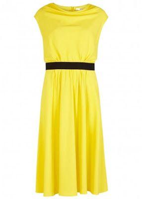 Paule Ka Bright Yellow Draped Crepe Dress