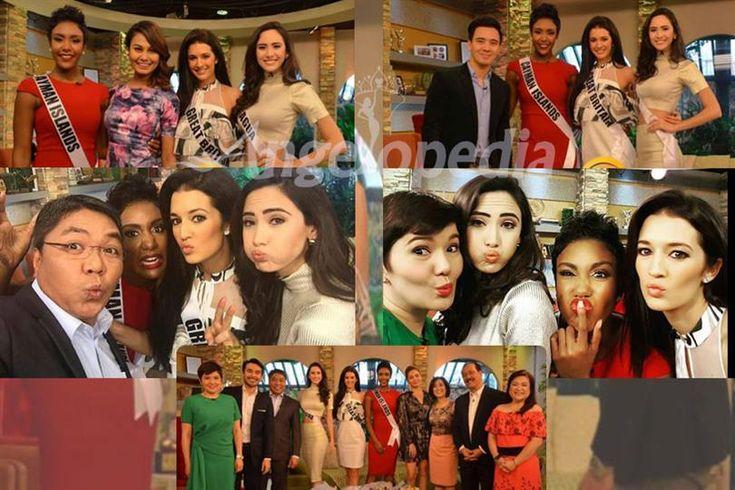 Miss Universe 2016 contestants at the Umagang Kay Ganda Show