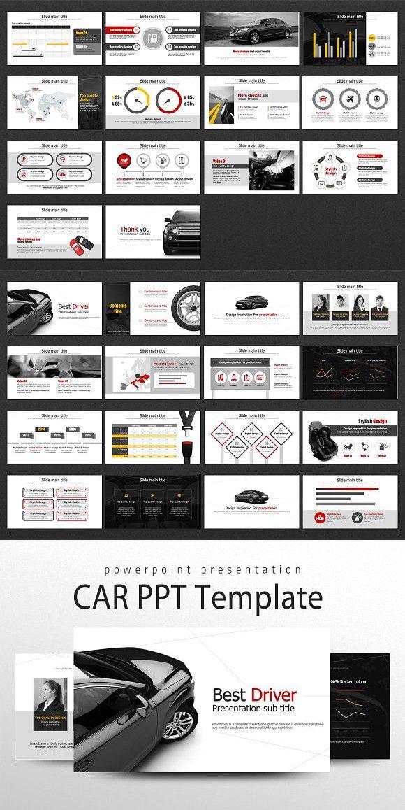 Car PowerPoint Template #169ppttemplate #169slidedesign