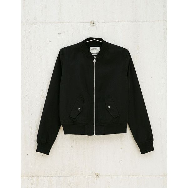Bomber jacket - Bomber jacket - Bershka Israel (98 PLN) via Polyvore featuring outerwear, jackets, flight jacket, bershka, bomber style jacket, blouson jacket i bomber jacket