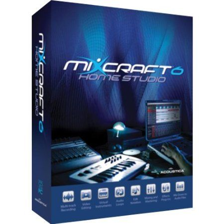 Mixcraft 6 Home Studio provides cutting edge music recording, digital audio technology wrapped into an elegant, easy-to-use simple user interface designed with the sole purpose of allowing all music enthusiasts the freedom and satisfaction to create and publish their own music. Recording and editing tools, virtual instruments, over 2000 loops/sfx, effects, video and mixing capabilities that were once only available in professional recording studio's at unaffordable hourly rates. Price…