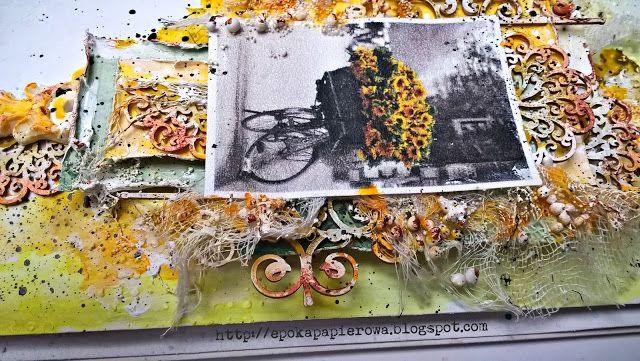 EPOKA  PAPIEROWA: Wpis do art journala - w kolorach plakatowych 14 D...