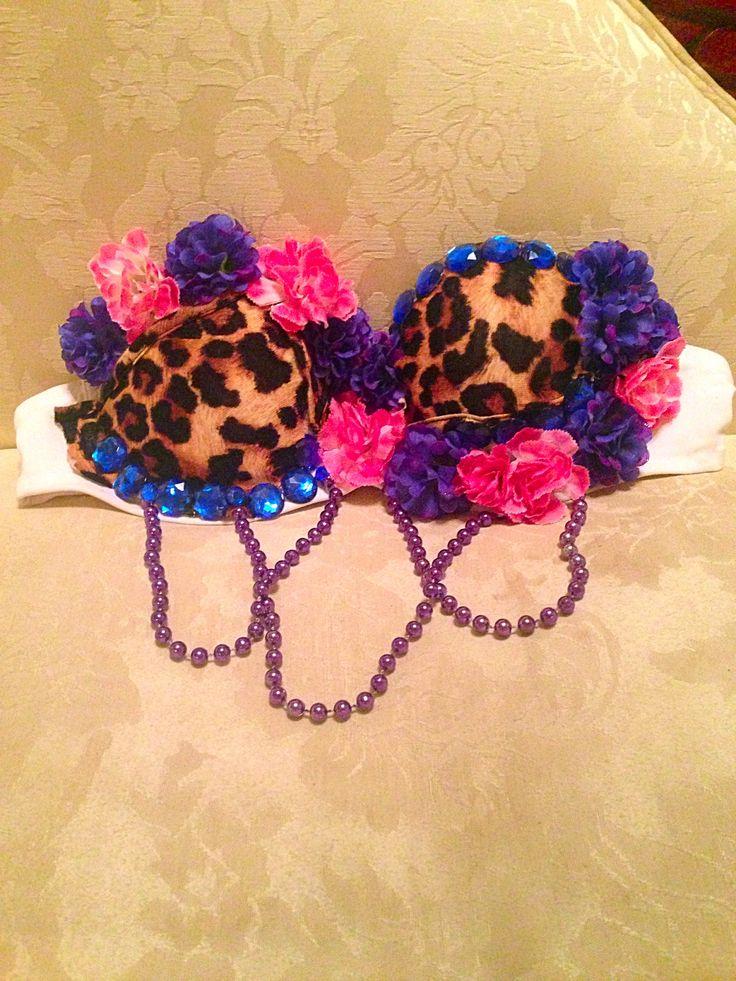 Sexy leopard rave bra. Only $13.99! Search ebay seller fashionstar17