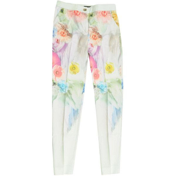 Ted Baker Womens Multi Colour Sugar Sweet Floral Pants ($42) ❤ liked on Polyvore featuring pants, bottoms, trousers, jeans, zipper pants, floral print pants, ted baker pants, floral trousers and flower print pants