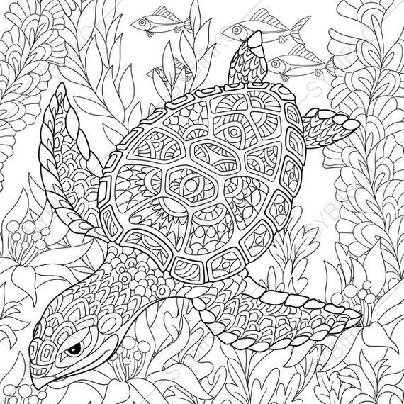 Printable Ocean Animals Coloring Pages | Animal Coloring Pages for ... | 570x570