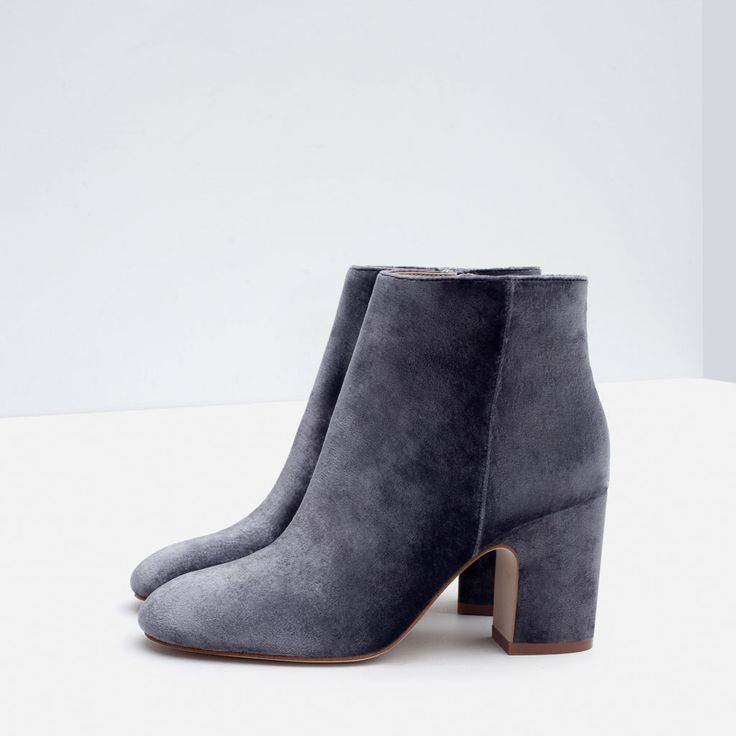 HIGH HEEL VELVET ANKLE BOOTS-Ankle boots-Shoes-WOMAN | ZARA United States