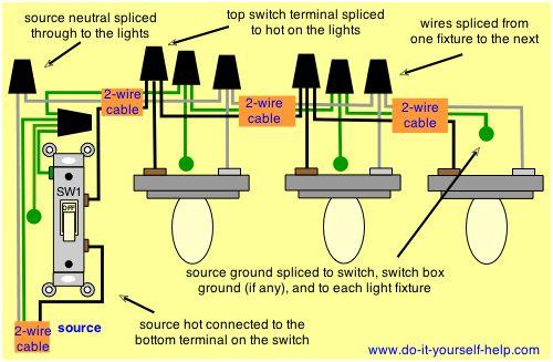 diagram garage lights electrical wiring diagram full