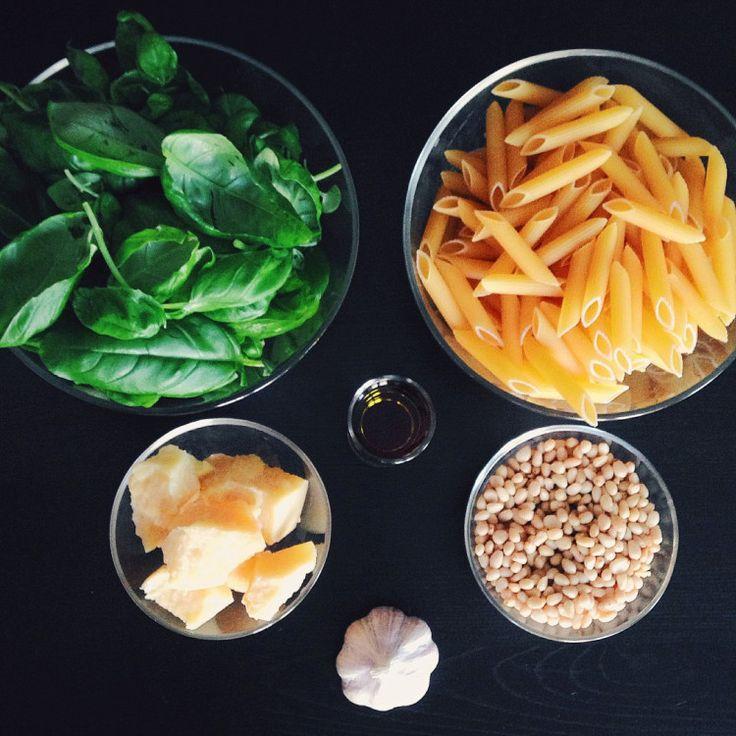 Быстрые рецепты от Вероники: Пенне с соусом песто