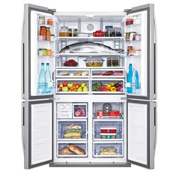 American fridge freezer dimensions H/L/P 182/92/74.5 cm couleur / couleur de boîtier Inox Mode d'emploi f/a/i consommation d'énergie (kWh) 357 kWh / 365 jours|0.98 kWh / h sécurité SEV