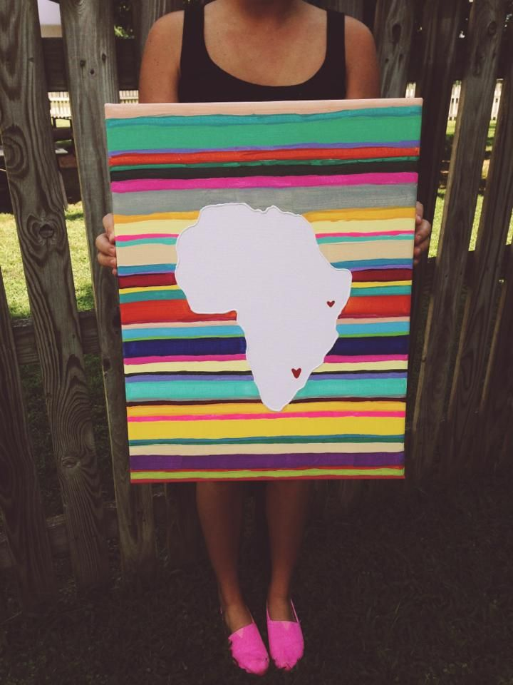 @Felicity Joy painted this! totally inspired me. I will definitely be painting one of these in the future for countries ive been to on missions trips! causes you to remember all those wonderful memories and pray.