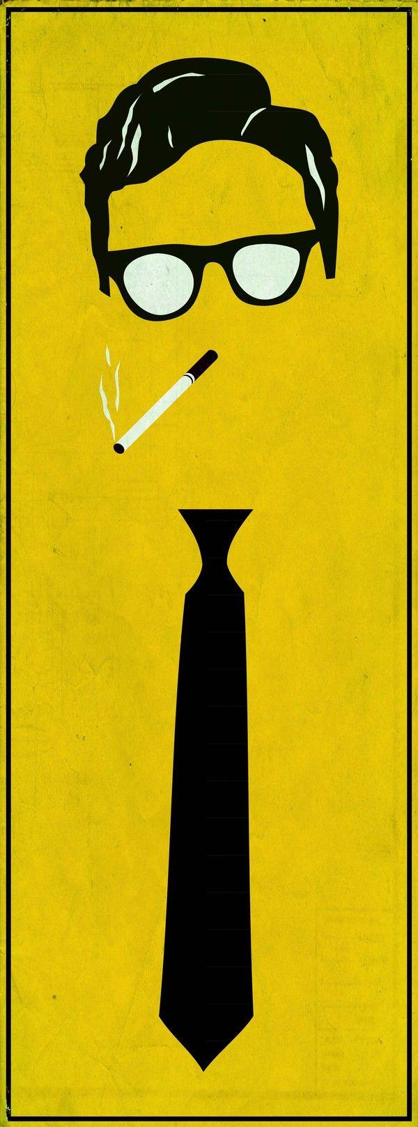 Beat Generation Poster by Sean Morse. En homenaje a los escritores más serios de los 50's.