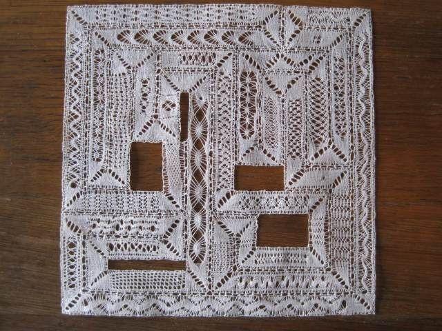sampler di tutti i punti milano (muoioooooo....) Milanese bobbin lace sampler   da weaverannie