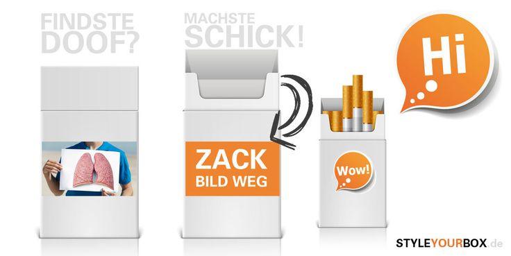 Style Your Box - verschöner deine Zigarettenbox. So wie du willst :-)