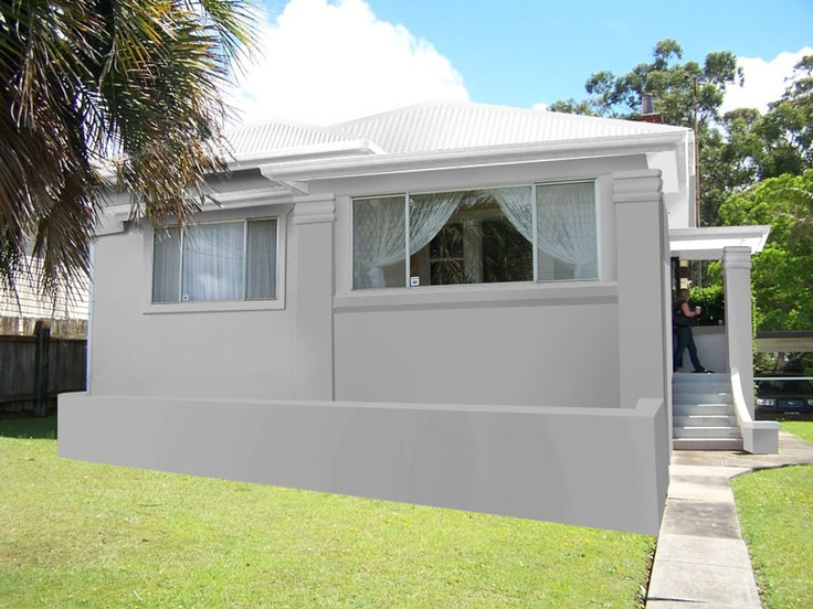 Shale grey render surf mist roof colour story for new - Painting exterior walls rendered ...