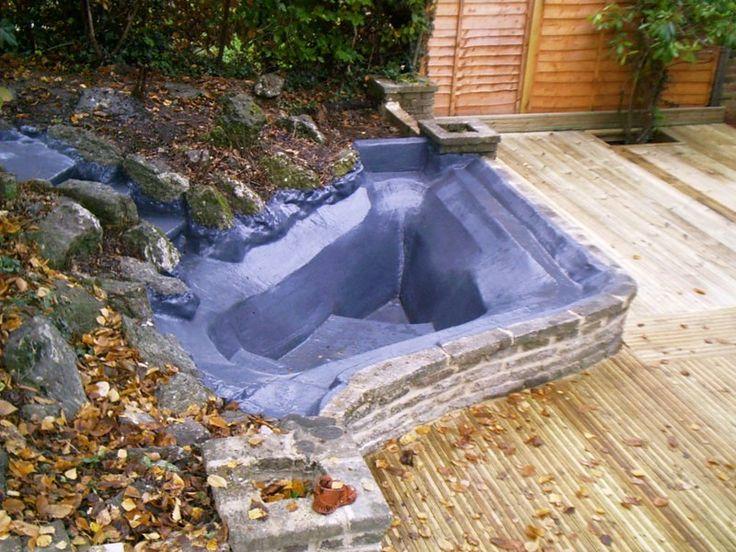 Deck pond rain chains barrels water features pinterest for Garden decking with pond