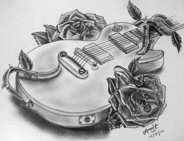 guitar abstract pencil drawing pinterest abstract and guitar. Black Bedroom Furniture Sets. Home Design Ideas