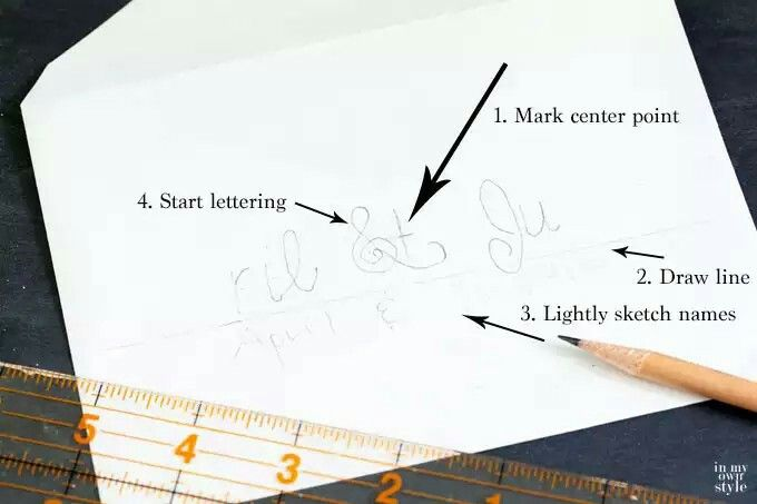 Step by step pointers for hand lettering an envelope