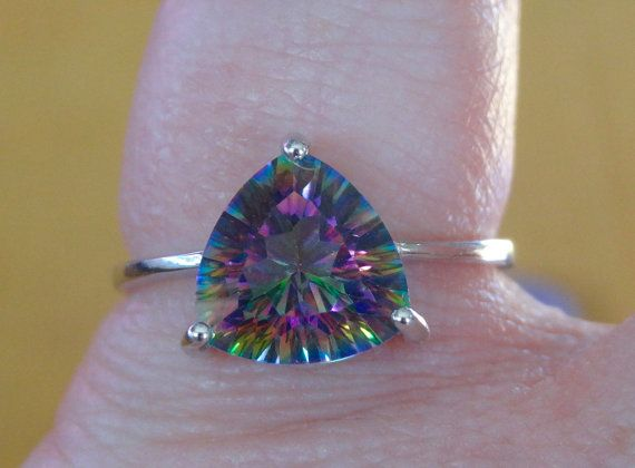 Gorgeous 4 ct. Mystic Rainbow Topaz Sterling by UniqueToMeDesign
