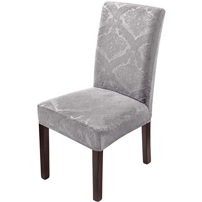 Delight Dining Room Chair Covers Velvet Stretch Chair Covers For