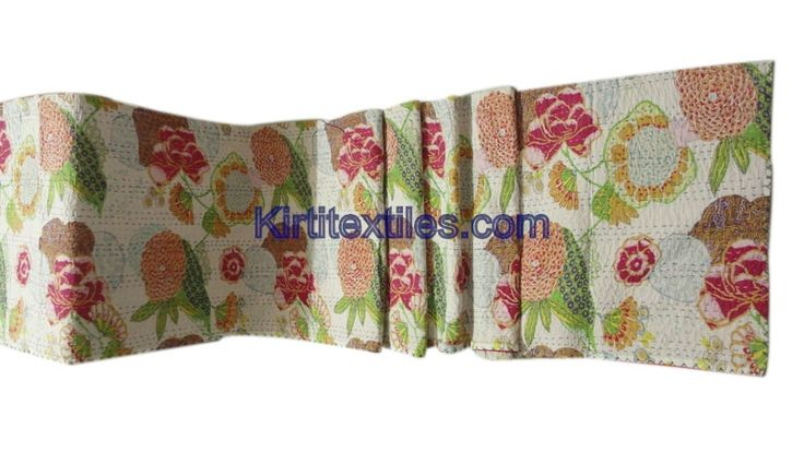 Fruit , Flower And Leaf Designer Bengali Gudri Sanganeri Block Printed Cotton Fabric Made Vintage Style Patchwork  Elegant Look Throw Bedspread From Jaipur