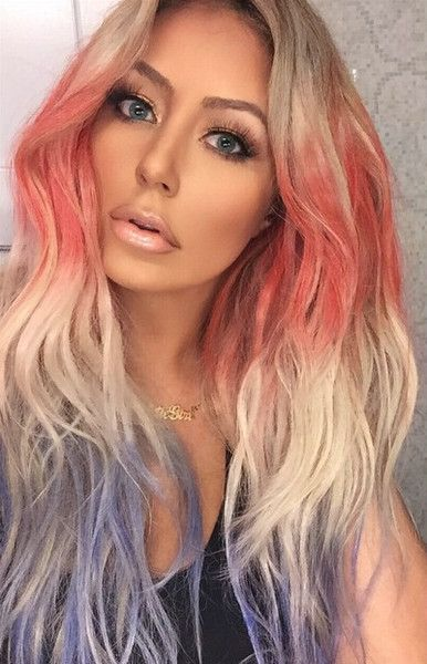 Aubrey O'Day Rocks U.S. Flag-Inspired Hair Colors for July 4th