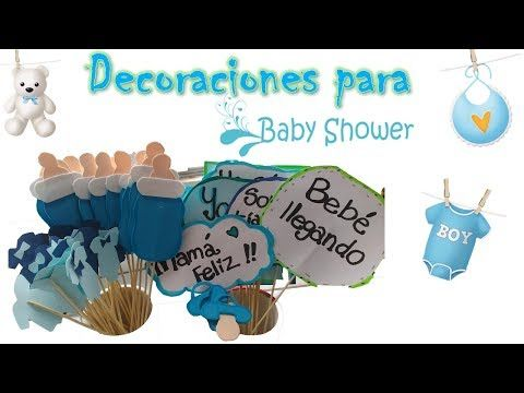 Adornos para baby shower niño - Decoración DIY MANUALIDADES
