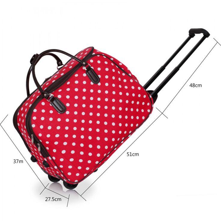 Velikost: viz. foto. Barva: červená s punttíky. Na zip. Vhodné jako příruční do letadla.