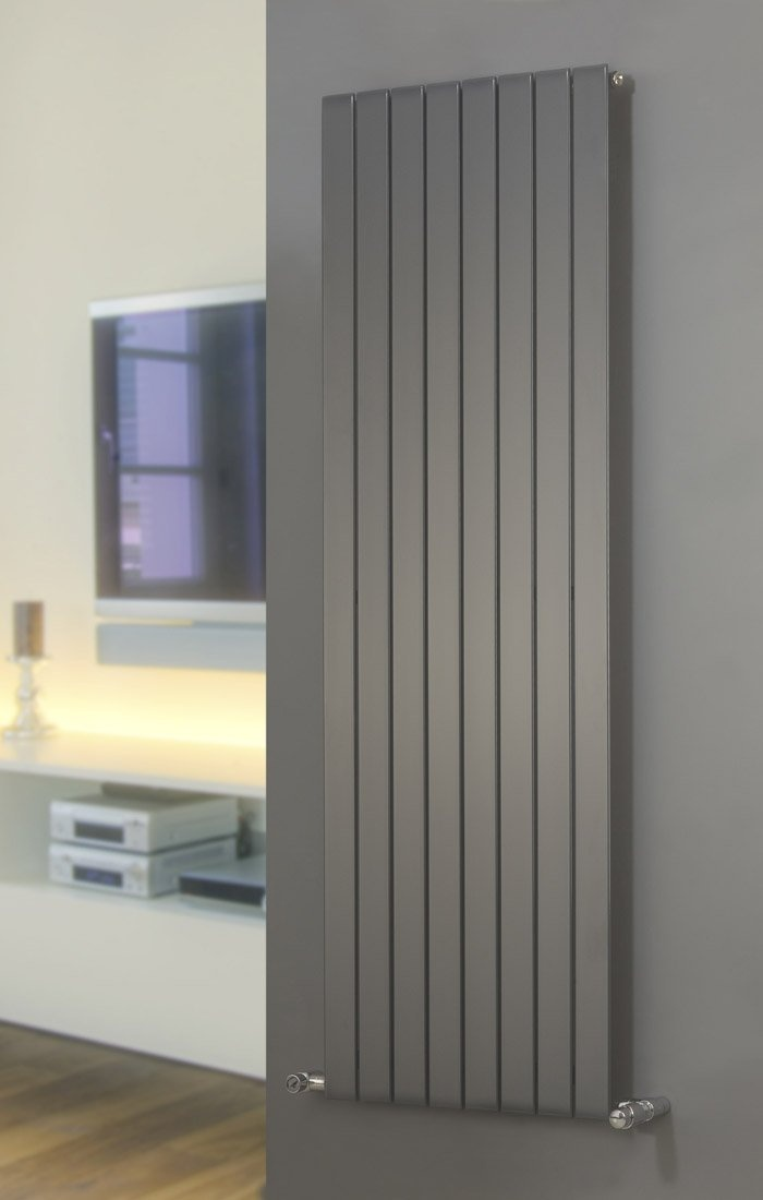 agadon p1 anthracite flat panel designer radiator 1800 x. Black Bedroom Furniture Sets. Home Design Ideas