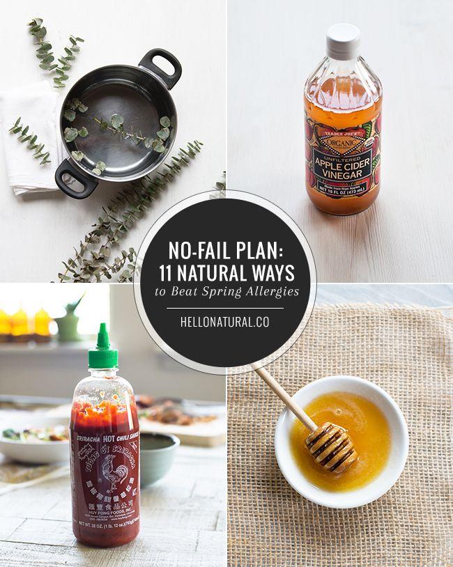 11 Natural Remedies for Seasonal Allergies | HelloNatural.co / Plant Medicine <3
