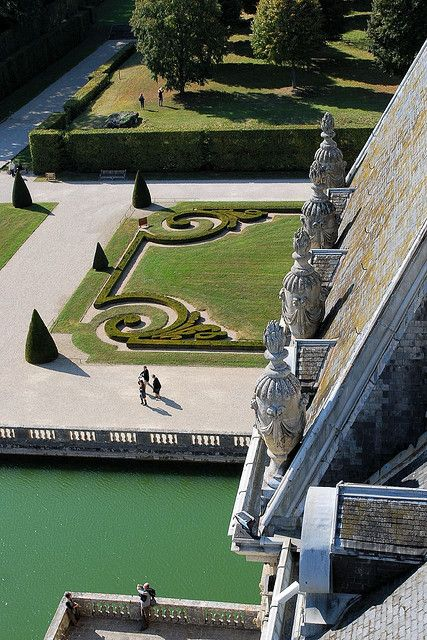 View from the cupola of Vaux le Vicomte - just 55 km from Paris between the palaces of Vincennes and Fontainebleau.