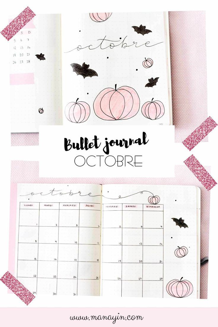 Bullet Journal Octobre Idée De Mise En Page Journal Pinterest