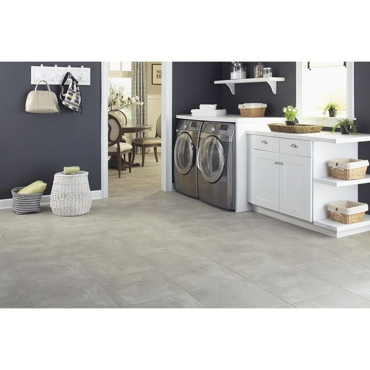 Shop stainmaster 18 in x 18 in groutable pistachio beige peel and stick stone luxury vinyl tile - Vinyl tile at lowes ...