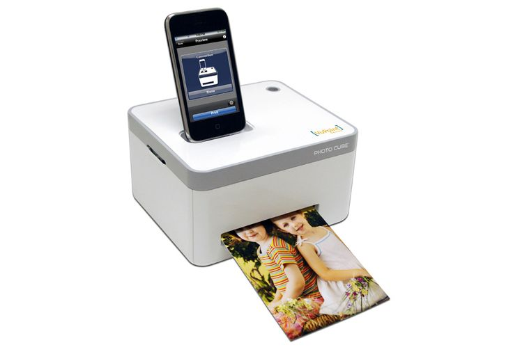 iPhone Photo Cube Printer- want one.