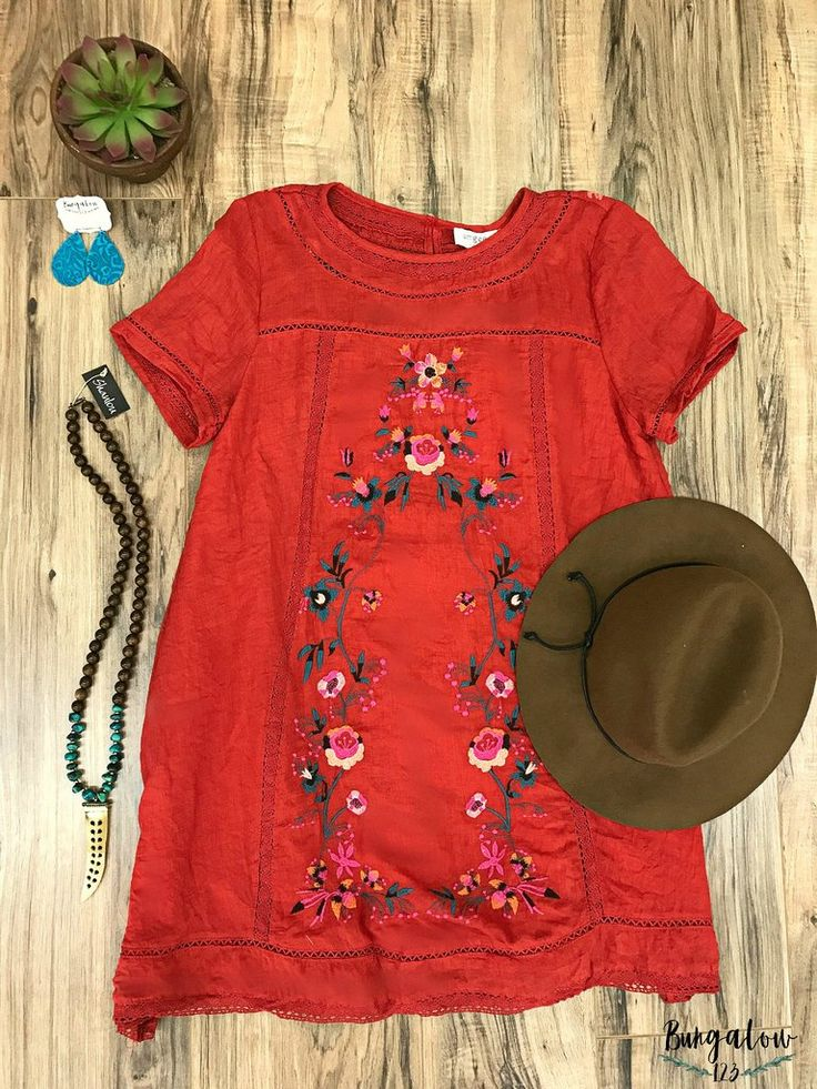 Greenwich Tunic Dress - Red....minus the hatti