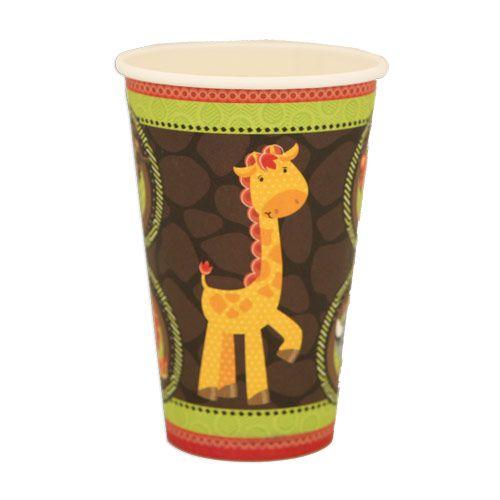 Funfari™ - Fun Safari Jungle - Hot/Cold Cups - 8 Qty/Pack - Birthday Party Tableware $3.59