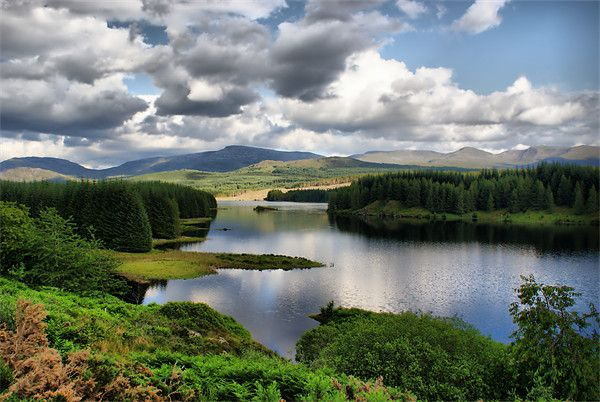 Loch Laggan, near Spean River, The Highlands, Scotland, where Monarch of the Glen was filmed. Do you wonder why we watched the show?! Loved the show AND the scenery was fantastic.