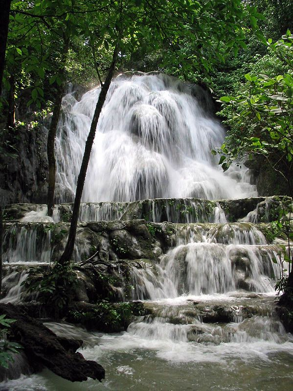 Waterfall at Palenque - Palenque, Chiapas  Mexico