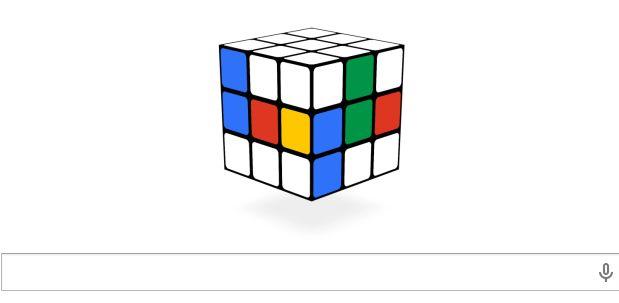 Oggi Google propone un fantastico Doodle dedicato al Cubo di Rubik.