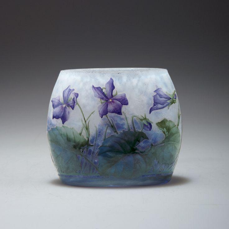 Vase Violettes Um 1900 Manufacturer Daum Fr 232 Res Nancy