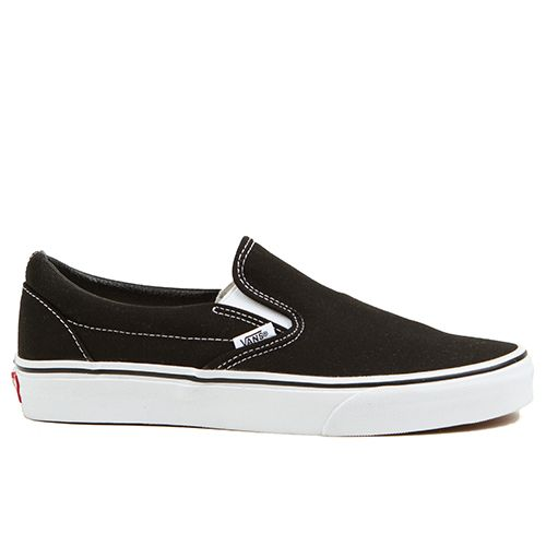 The ORIGINAL mens skate shoes from Vans shoes, the classic Slip On is for men and women of all ages. No laces, no problems.