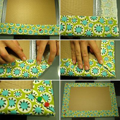 Fabric notice board tutorial